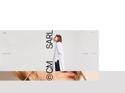 Cm© website typography concept web desktop ui clean minimal
