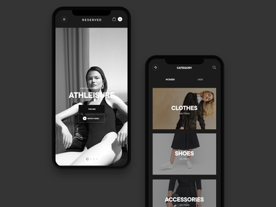 Reserved app concept concept web desktop ui clean minimal
