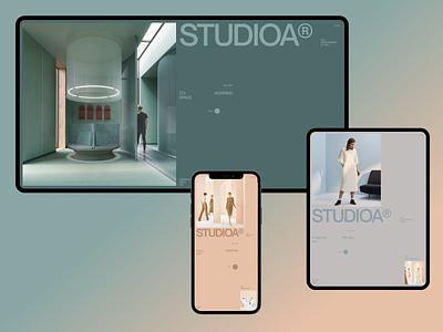 StudioA #3 design web tablet desktop ui clean minimal