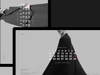 Veni #1 photoshop clean fashion desktop calendar promo minimal miniproject