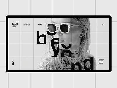 Exp23 #1 miniproject concept web minimal clean desktop typography