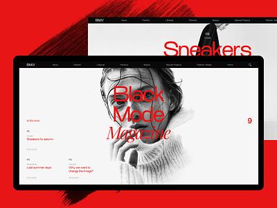 Experiments #3 concept web article miniproject typogaphy minimal desktop magazine ui