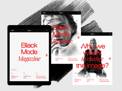 Experiments #4 miniproject concept tablet web minimal magazine typography