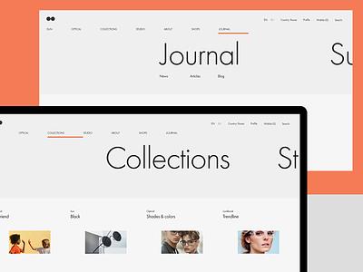 Experiments #6 typography ecommerce miniproject concept web minimal clean ui desktop
