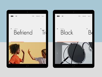 Experiments #7 ecommerce miniproject tablet concept minimal clean ui