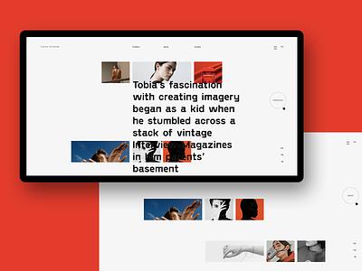 Experiments #10 portfolio website typography miniproject concept web desktop clean minimal ui
