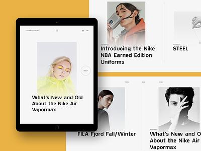 Experiments #11 portfolio tablet miniproject concept web clean minimal ui