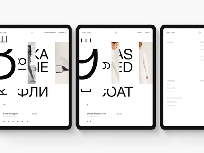 Experiments #13 promo ecommerce typography concept miniproject tablet web minimal ui