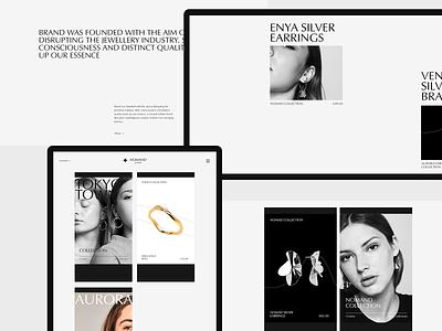 Nomand jewelry #2 store ecommerce jewelry tablet desktop web clean minimal ui