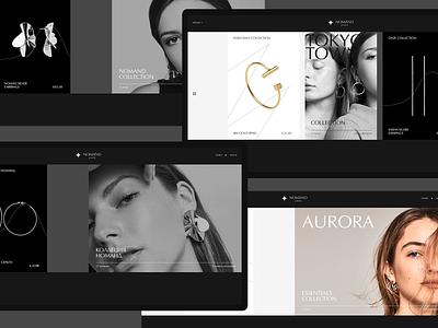 Nomand jewelry #3 ecommerce shop jewelry desktop web clean minimal ui