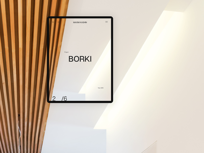 Maxim Kashin Architects minimal typography clean main page tablet personal interior design architects