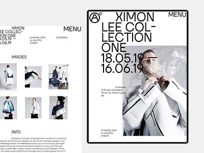 ARTFEY foundation minimal clean typography desktop tablet foundation exhibition gallery