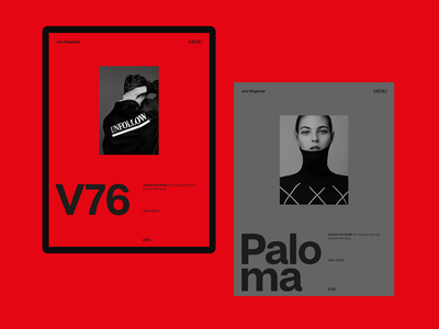 Experiments #15 red design typography miniproject interaction tablet web ui clean minimal