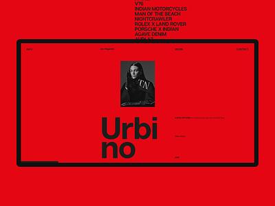 Experiments #16 typography portfolio red interaction concept desktop clean minimal