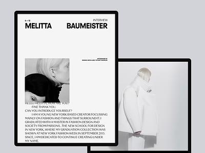 F.Designers #1 interview fashion designer fashion tablet typogaphy concept ui clean minimal