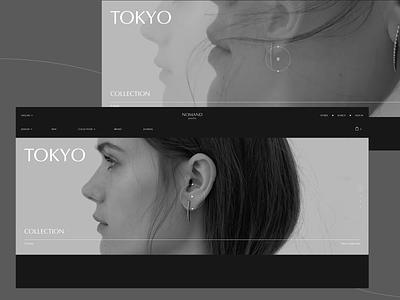 Nomand jewelry #4 store jewelry video interaction desktop clean minimal