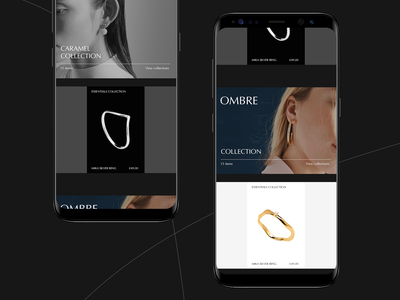 Nomand jewelry #5 jewelry store mobile interaction clean minimal