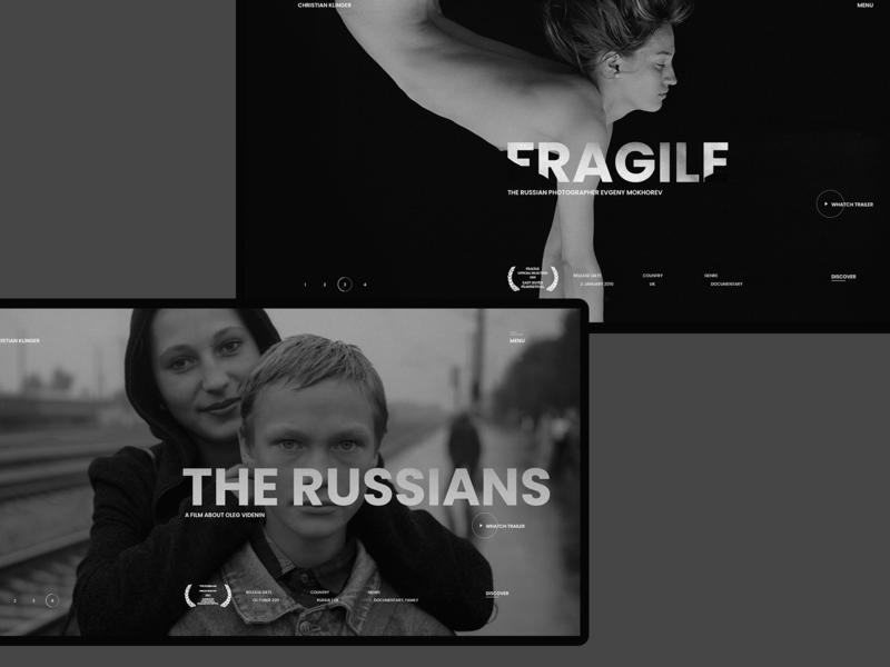 Christian Klinger typography adaptive desktop tablet documentary filmmaker christian klinger
