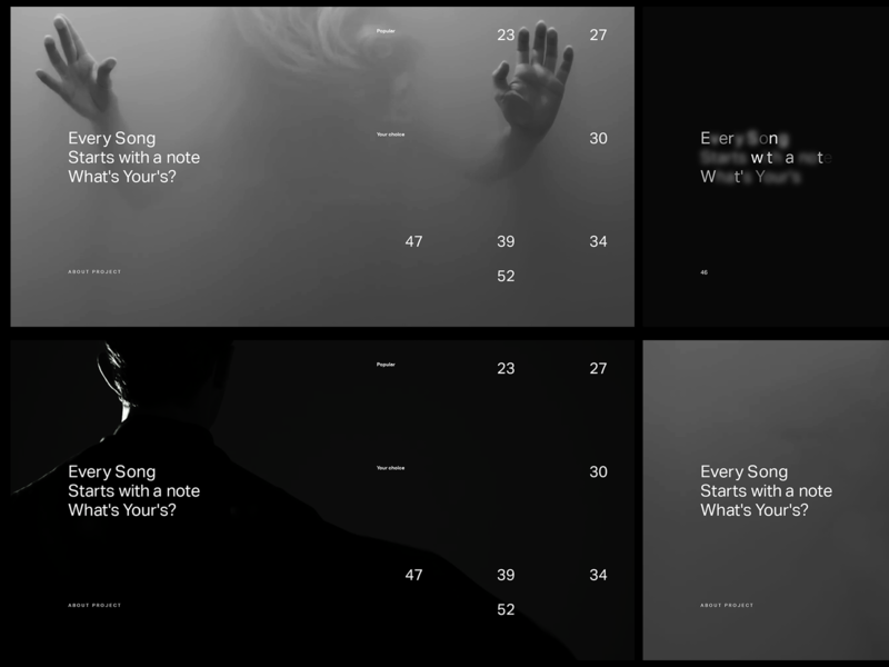 Experiments #17 gaussian numbers minimal webdesign sound music desktop aftereffects