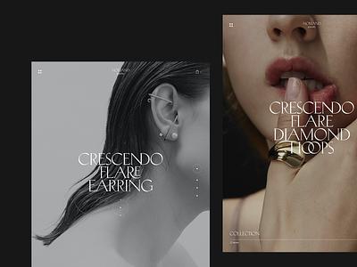Nomand jewelry #7 jewelry store serif typography concept tablet minimal