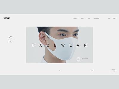 Experiments #18 typography desktop white minimalism style clean concept respirators facewear