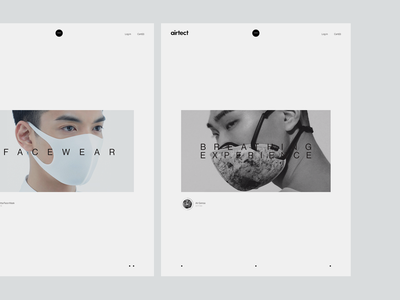 Experiments #19 white typography style minimal clean respirators mask facewear