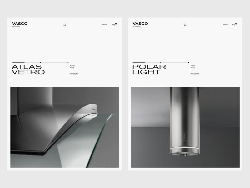 Experiments #23 kitchenware kitchens hoods web ui tablet clean minimal