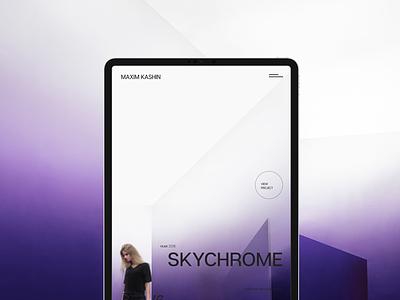 Maxim Kashin Architects animation tablet minimal interior personal site interaction aep