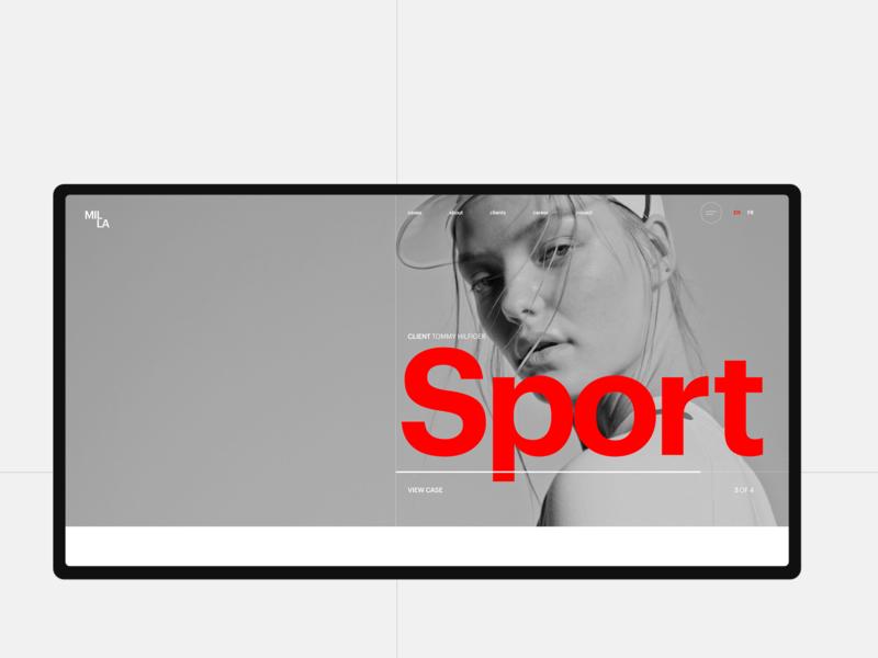 MILLA blackandwhite grid typography minimal webdesign template concept agency