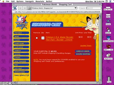 Shopping Cart pokemon system 7 shopping card 058 dailyui