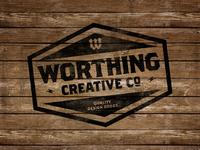 Worthing Creative Co Badge | Stamp on Wood
