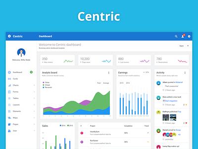 Centric dashboard angularjs admin app bootstrap dashboard chart ui