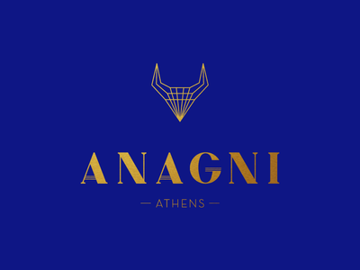 Anagni greece athens font gold typography bull identity jewelry handmade logo anagni