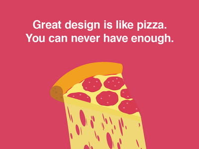 In pizza we trust foodporn food yummy cheese flat illustration design quote delicious slice pizza