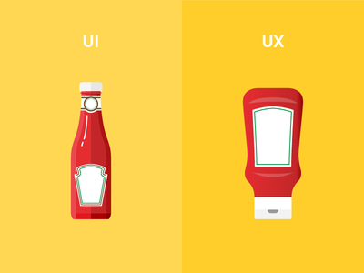UI vs UX interface user experience tomato heinz yellow ux ui bottle ketchup