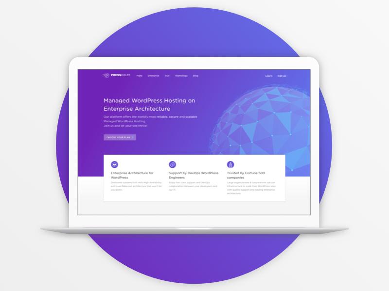 Pressidium Homepage ui design technology hosting wordpress website interface ux ui homepage