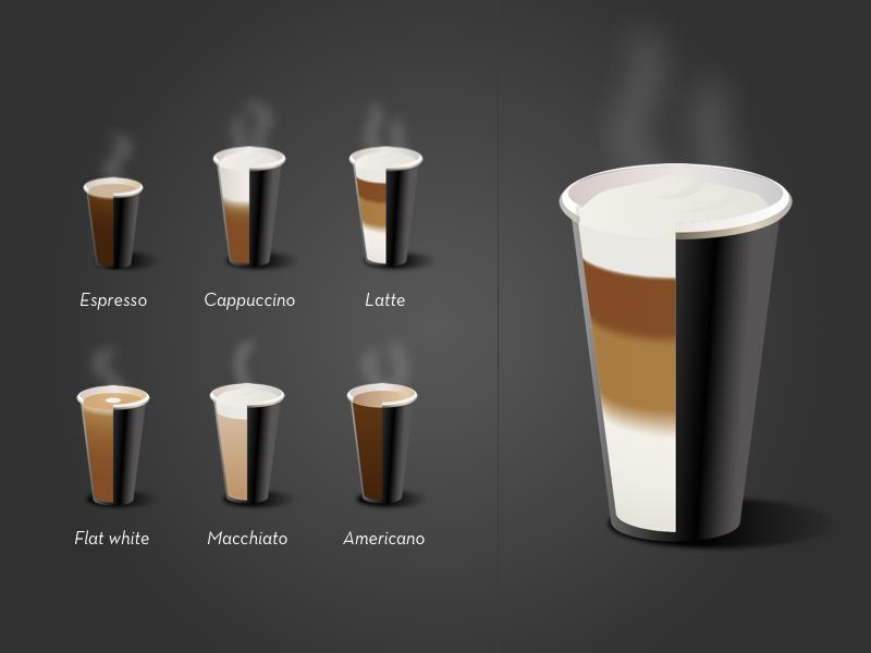 Coffee icons icon illustration cup black macchiato latte cappuccino espresso coffee