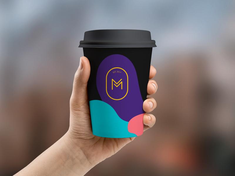 Monday Mornings logo brand graphic design concept branding identity coffee logo