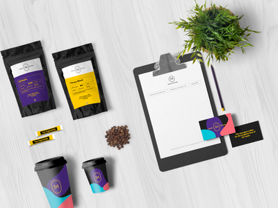 Monday Mornings visual identity sugar brand graphic design concept branding identity coffee logo