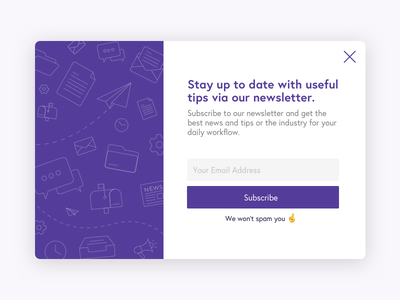 Newsletter Subscription Card design mail tech startup ui ux dailyui subscribe card subscription newsletter