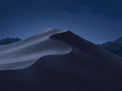 Mojave Background background apple mac osx darkmode night sand landscape mountain ipad mojave illustration