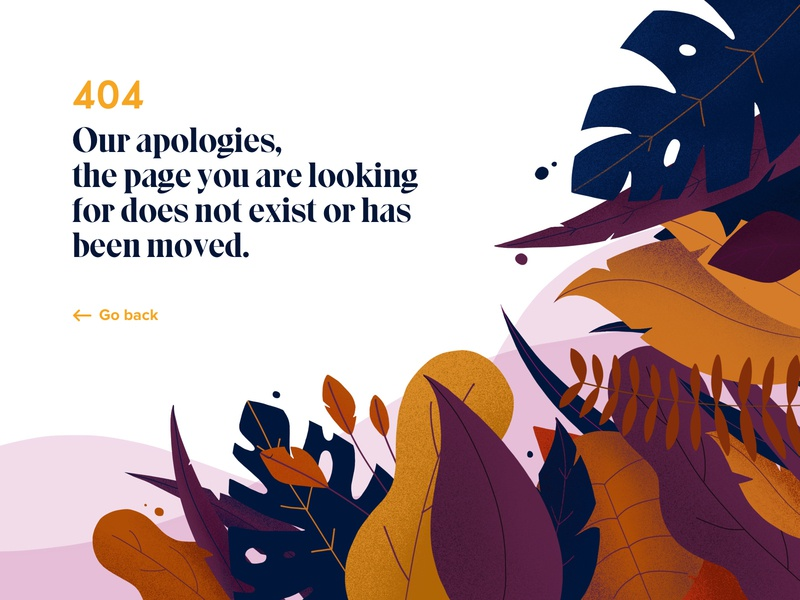 404 In The Forest dailui 404 page creative design ux ui procreate 404 error page illustration plants 404
