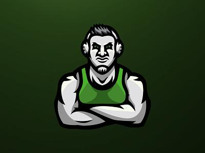Gaston Grapplers mascot design wrestling icon branding design brand vector illustration design mascot branding logo