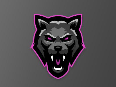 NeonWolf illustration mascot design fierce animal design mascot gaming logo branding wolf logo wolf