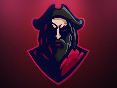 Blackbeard   Premade Mascot Logo esports brand pirate blackbeard logo mascot