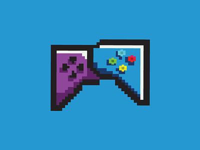GamerChat | Logo - FOR SALE design vector gaminglogo branding 8bit chatbubbles controller blog podcast gaming forsale