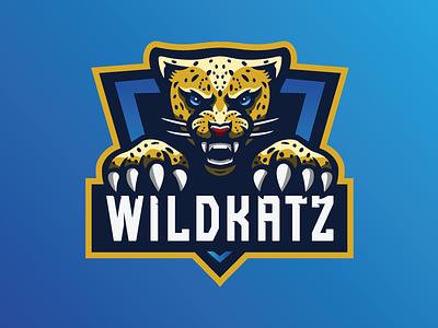 'WildKatz' - Premade Mascot Logo mascot design esports illustation branding logo gaming cheetah for sale mascot logo