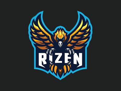 'Rizen' Premade Mascot Logo mascotlogo brand illustration icon design esports mascot branding gaming logo