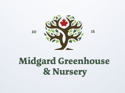 Midgard Greenhouse & Nursery brand identity brand design vector typography design icon corporate identity branding