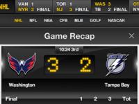 Scoreboard for iPhone w/ game slider & league quick nav